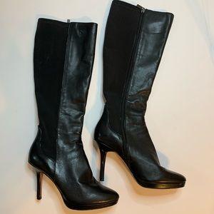 WHBM | Tall Black Heeled Boots sz 7.5